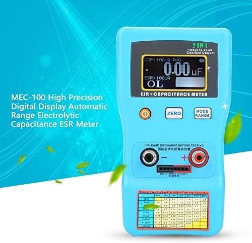 MEC-100 ad Alta precisione Gamma Automatica elettrolitici ESR Meter con Display LCD multimetro Misura di Prova LHQ-HQ Digitale LCR Meter