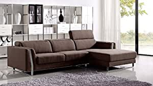 Brown Xavier Sectional Sofa - Right Chaise