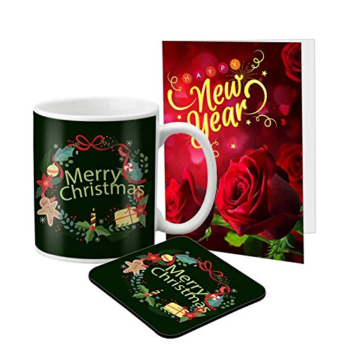 LOF Wish You A Merry Christmas Gifts For Girlfriend Boyfriend Greeting Card With Mug Combo