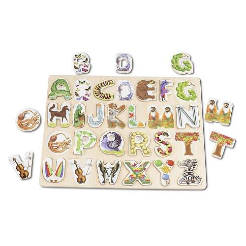 Melissa & Doug Large Alphabet Art Puzzle Abc Art Puzzle