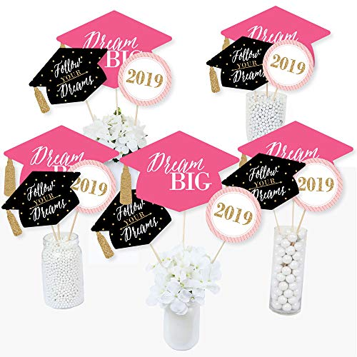 Dream Big - 2019 Graduation Party Centerpiece Sticks - Table Toppers - Set of 15 ()