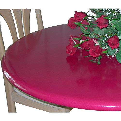 High Gloss Lacquer - Lacquer Tops Large Round Fitted Table Cover for Special Occasions and Holidays Doubles as Protective Table pad Under linens for Large Round Tables 48