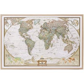 Amazon world map national geographic cork pinboard prints world map national geographic cork pinboard gumiabroncs Gallery