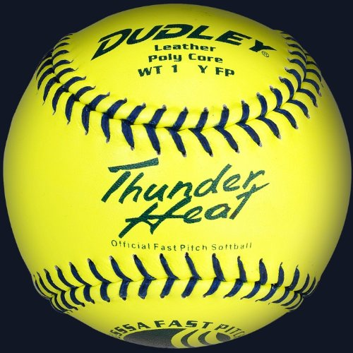 """Dudley 11"""" Thunder Heat USSSA Leather Fastpitch Softball"""