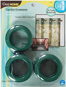 Dritz 44441 Round Curtain Grommets, Green, 1-9/16-Inch, 8-Pack