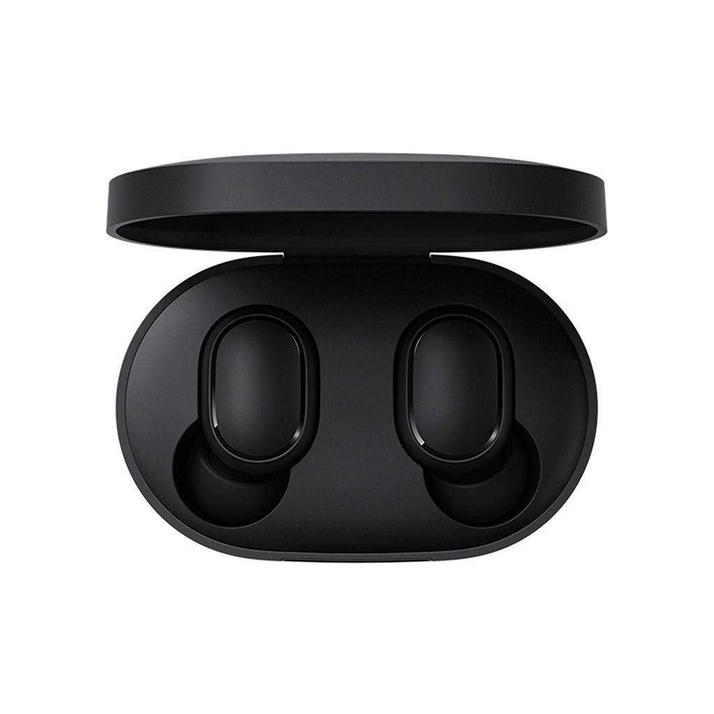 OutTop(TM) Xiaomi Redmi AirDots TWS Bluetooth Headphones V5.0 Noise Canceling Built-in Mic in-Ear Earphones Sport HiFi Stereo Earbuds with Charging Case Headset for iPhone Huawei Samsung (Black)