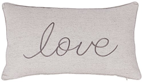 Love Throw Pillow - ADecor Pillow Covers Love Lumbar pillow cases pillow covers embroidered cushion couple wedding anniversary P328 (14X24, Linen)