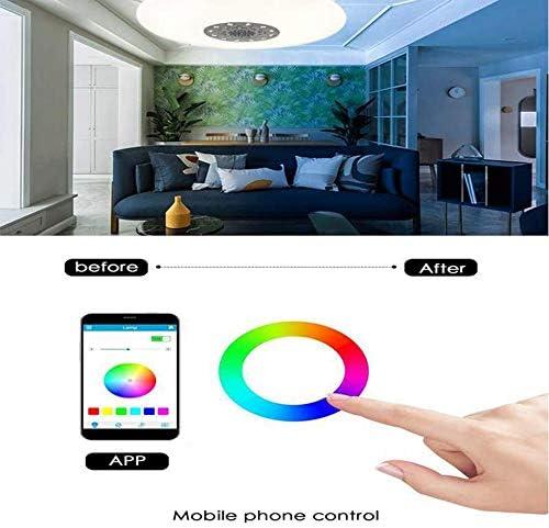 60w Led Deckenleuchte Farbwechsel Mit Fernbedienung Mit Bluetooth Lautsprecher Dimmbar ,Musik Deckenlampe Kinderzimmer, Passend Fü KüChe Schlafzimmer Badezimmer Wohnzimmer