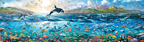 Buffalo Games - Panoramic - The Big Blue Sea - 750 Piece Jigsaw Puzzle (Whale Jigsaw)