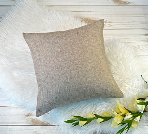 Aiking Home Woven Fine Faux Linen Throw Pillow Cover, size 18
