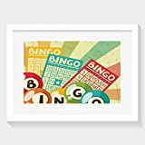 HUANGLING Bingo Game With Ball And Cards Pop Art Stylized Lottery Hobby Celebration Framed Wall Art Prints For Home Decoration