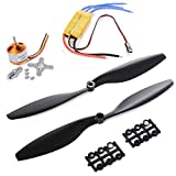 RoboJax A2212 1000KV Brushless Motor With 30A Brushless ESC and 1 Pair 1045 Propeller for DJI F450 550