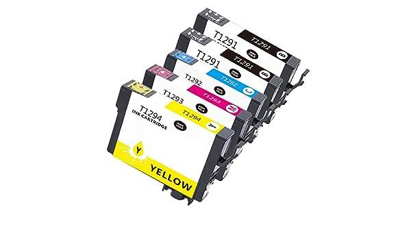5 T1291 – T1294 compatibles tinta como repuesto para Epson SX 525 ...