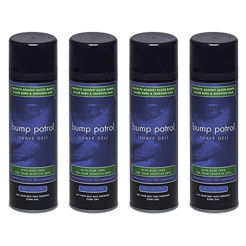 M Shave Aloe Gel - Bump Patrol Sensitive Skin Shave Gel With Aloe Vera - Prevents Razor Burn, Bumps, Ingrown Hair – 7 Ounces 4 Pack