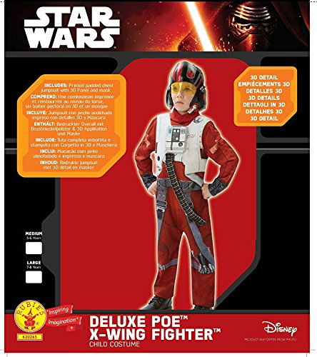 Star Wars Deluxe Poe X Wing Fighter Pilot Costume Child Costume Medium Ages 5-6]()