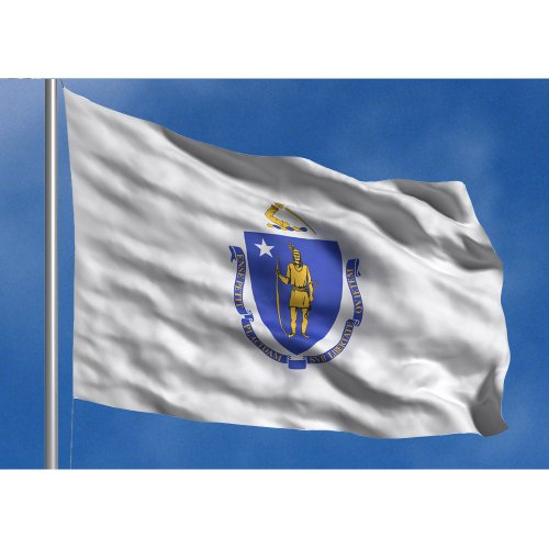 - Allied Flag - 5' x 8' Outdoor Nylon Massachusetts State Flag - Made In USA - Vivid Color and Fade Resistant - Reinforced Hem and Brass Grommets