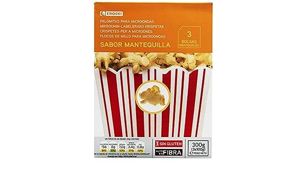 Eroski Palomitas sabor mantequilla para microondas - Paquete de 3 ...