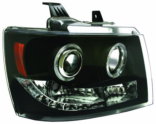 IPCW CWS-311B2 Projector Headlight with Rings and Black Housing - Pair
