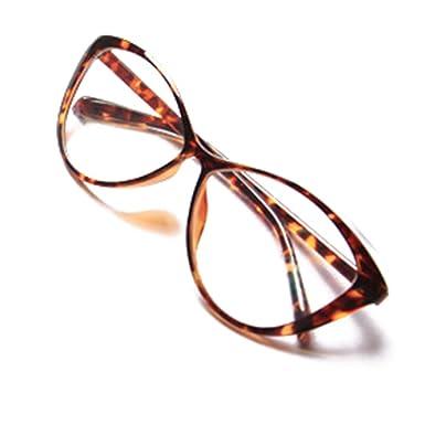 08c735a05b880 Hibote Hombres Mujeres Gafas de Ojo de Gato - Gafas de Lentes Transparentes  Gafas - Gafas de Moda 122901  Amazon.es  Ropa y accesorios