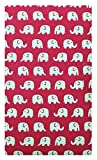 Kathy Pink Elephants Fabric Check Presenter for Restaurant, Waitstaff Organizer, Credit Card Book, Server Books, Waitress Book with Money Pocket, Waitress Check Book, Waiters Wallet