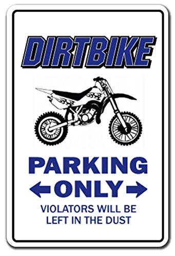 DIRTBIKE Parking Sign gag novelty gift funny bmx racing cyc