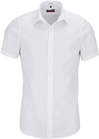 Marvelis - Camisa formal - Básico - Clásico - Manga corta - para hombre: Amazon.es: Ropa y accesorios
