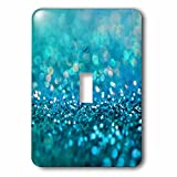 3dRose LSP_272843_1 Sparkling Teal Blue Luxury Shine Girly Elegant Mermaid Glitter Toggle Switch,