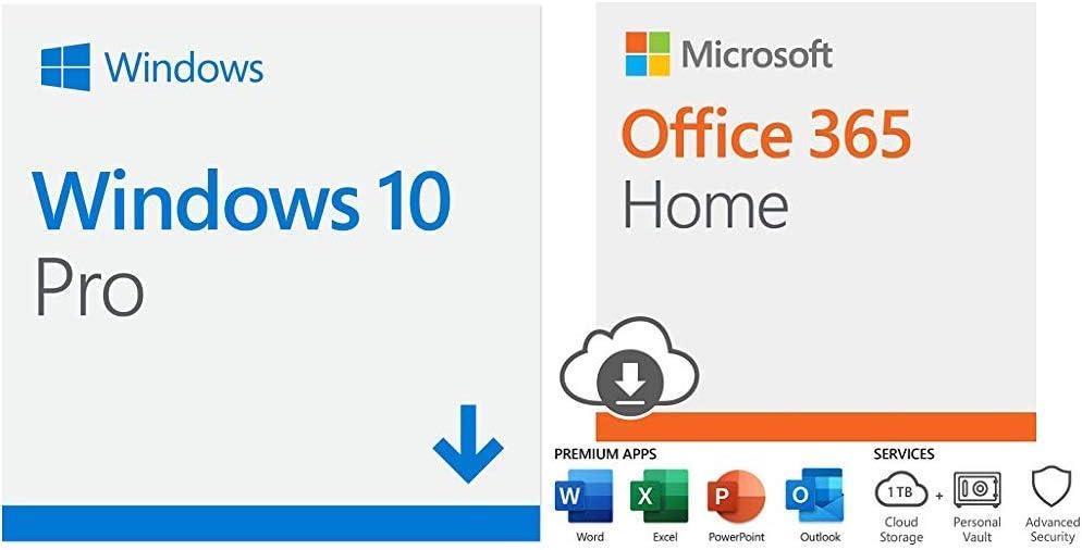 Microsoft Windows 10 Pro | Download+ Microsoft Office 365 Home with Auto-Renew