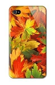 THYde Case Fun Apple iPhone 4/4s Case - Vogue Version - D Full Wrap - Autumn Leaves ending