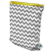Planet Wise Wet Diaper Bag, Gray Chevron, Medium