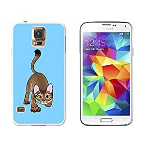 New Style Abyssinian Cat On White - Pet - Snap On Hard Protective Case for Samsung Galaxy S5 - Black wangjiang maoyi by lolosakes