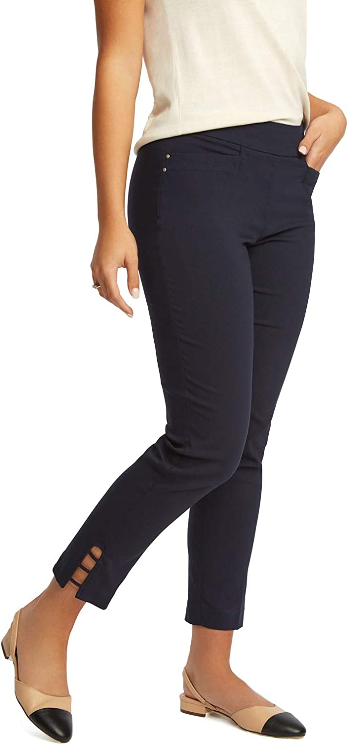 89th + Madison Women's Millennium Stretch Ladder Trim Ankle Pants