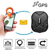 TKSTAR GPS Vehicle Tracker, Magnet Car Tracking Device, Long Range GPS Truck Van Locator Canada Waterproof Online Moving Tracking Long Battery Life TK905