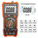LOMVUM Digital Multimeter, 6000 Counts Manual Voltage Tester Meter with Ohm Volt Amp Capacitance Temperature Frequency Diode Transistors Backlit LCD and Flashlight