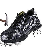 Mitudidi Chaussures de Sécurité Homme Chaussures de Travail Femme Basket Respirante Légère Embout Acier Protection Chaussures pour Unisexes été de Plein Air