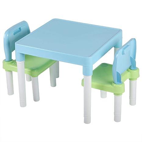 Fabulous Yosooo Kids Plastic Table Set Table And 2 Chairs Set Activity Table Chair Set Kids Furniture Set Childrens Table And Chair Set Portable Lightweight Machost Co Dining Chair Design Ideas Machostcouk
