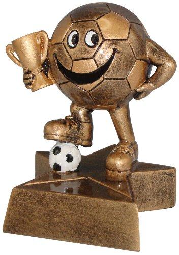 AS-P Fußball funny Pokal inkl. Ihrer Wunschgravur, Höhe: 10 cm