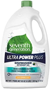 Seventh Generation 22929 Natural Automatic Dishwasher Gel Ultra Power Plus Fresh Scent 65 oz Bottle