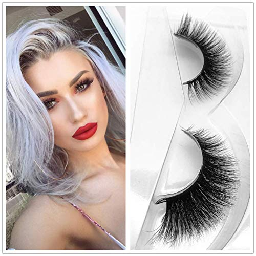 aeae66cab65 Miss Kiss 3D Mink Lashes Reusable Strip,100% Siberian Mink Fur False  Eyelashes Hand-made Natural Style Cruelty Free 1 Pair Eye Lash Package  (3D04)