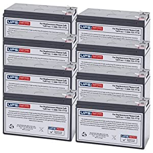12V 7.2Ah F2 Replacement Battery Set for Toshiba 1400SE Plus UPS