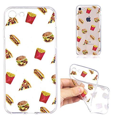 iPhone 7 Custodia , Leiai Moda Cibo Silicone Morbido TPU Cover Case Custodia per Apple iPhone 7