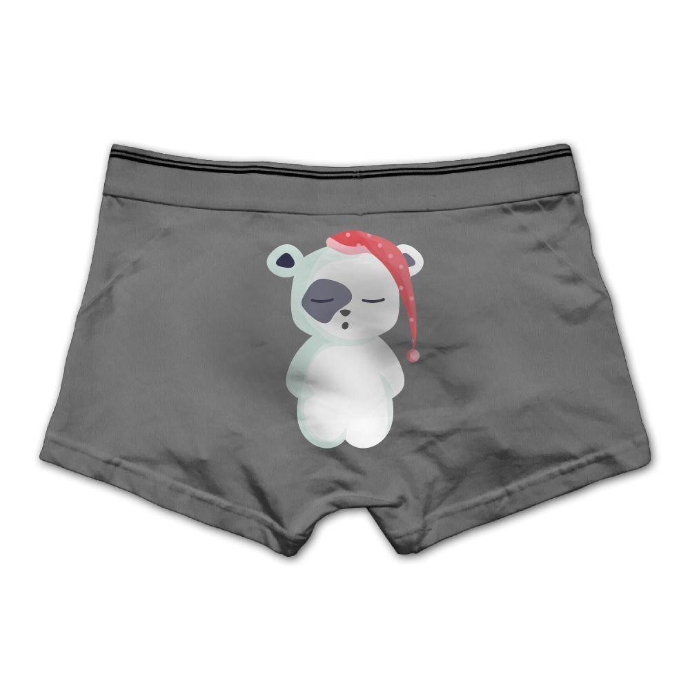 Lesi Yes Mens Underpants Boxer Briefs Bear Sleep Underwear Low Waist Cotton No Trace