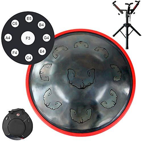 MSHK Professional Handpan Steel Drum,Handmade Performance Drum Sound Healing Musical Instrument Gift,with Drum Bag Drum…