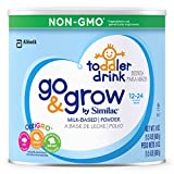 Go & Grow By Similac Non-GMO Milk Based Toddler Drink, Large Size Powder, 24 ounces (Pack of 6)
