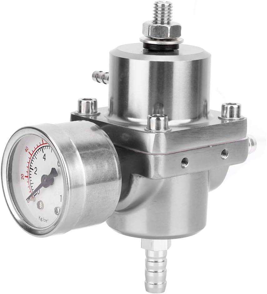 30-70 PSI Universal Car Modification Aluminum Adjustable Fuel Pressure Regulator Black Fuel Pressure Regulator