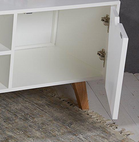 Kommode design modern  Kommode TV Tisch Retro Design weiß natur Sideboard Lowboard Modern ...
