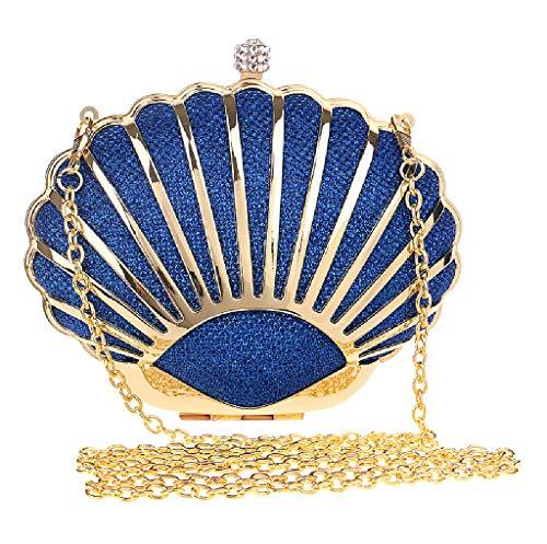 pour Doré Bandoulière Festival Soirée Pochette à Célébration Bleu Mariage Strass Sac de Main BESTWALED Party YxSOwq8wg