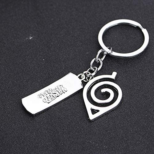no brands Jojocos Kakashi Itachi Akatsuki Keychain Anime Sharingan Leaf Village Alloy Keychain Pendant Cartoon Key Rings for Naruto Fans
