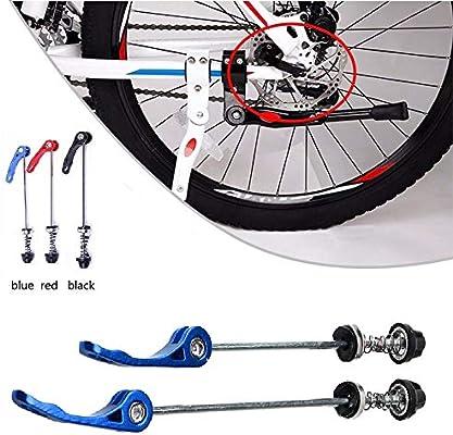 SUNWAN 1 par de pinchos de rueda de bicicleta para bicicleta, eje ...