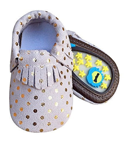 Lucky Love Baby Hard Sole Toddler Moccasins Shoes Size 12-18 - Walker Life Shoe